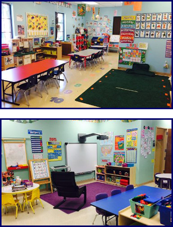 Preschool Classroom and Smart Board